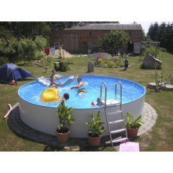 Okrogel montažni bazen set BALI 4,20 x 1,20m