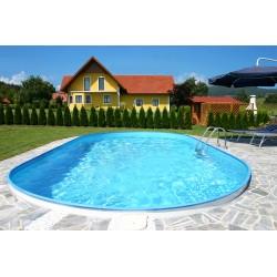Vgradni montažni ovalni bazen set FLORIDA 3,50 x 7,00 x 1,50 m, peščeni filter 8 m3/h