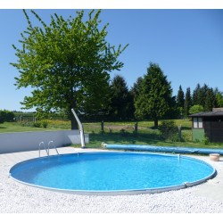 Okrogel montažni vgraden bazen set BALEAREN 5,00x 1,5m