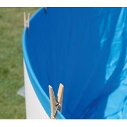 Modra folija za bazen 550 x 120 cm modra 0,30 mm