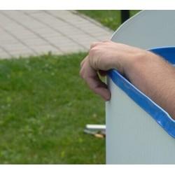 Bazenska folija 730x375x120cm, modra 0,4mm EB