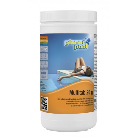 MULTITAB 1kg/20g - klorove tablete z algicidom in flokulantom