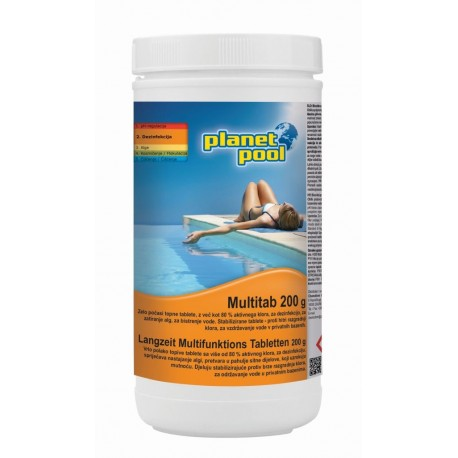 Planet Pool MULTITAB 1kg/200g - klorove tablete z algicidom in flokulantom