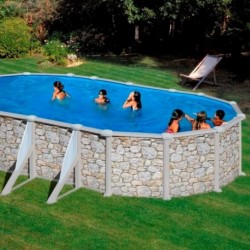 Prostostoječ samostoječ bazen KIT 500P, 500x300x120cm, imitacija naravnega kamna