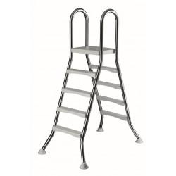 LESTEV NERJAVEČA, 2x4 stopnice, v120 cm, fi 43 mm