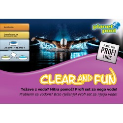 Clear and Fun Profi Line za dezinfekcijo, 4x 175 g